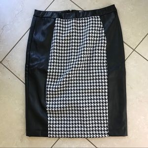 Lena Gabrielle skirt Faux Leather Houndstooth  8